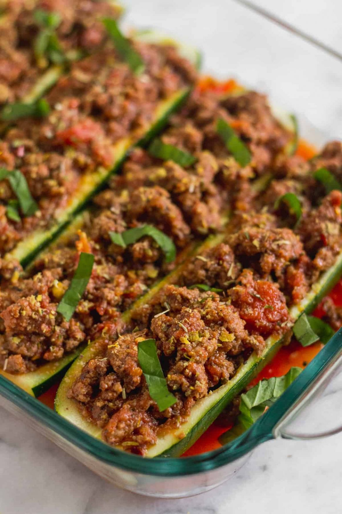 Whole11 Italian Beef Zucchini Boats - Eat the Gains - Recipes With Beef And Zucchini