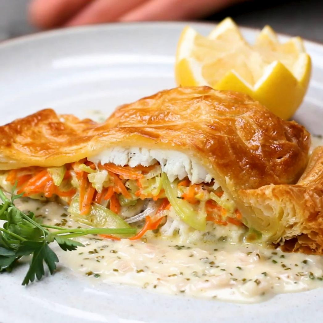 Wolfgang Puck's Sea Bass In Puff Pastry Recipe by Tasty