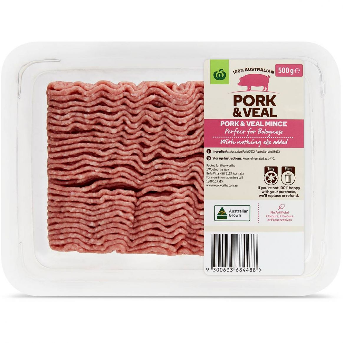 Woolworths Pork & Veal Mince 11g | Woolworths