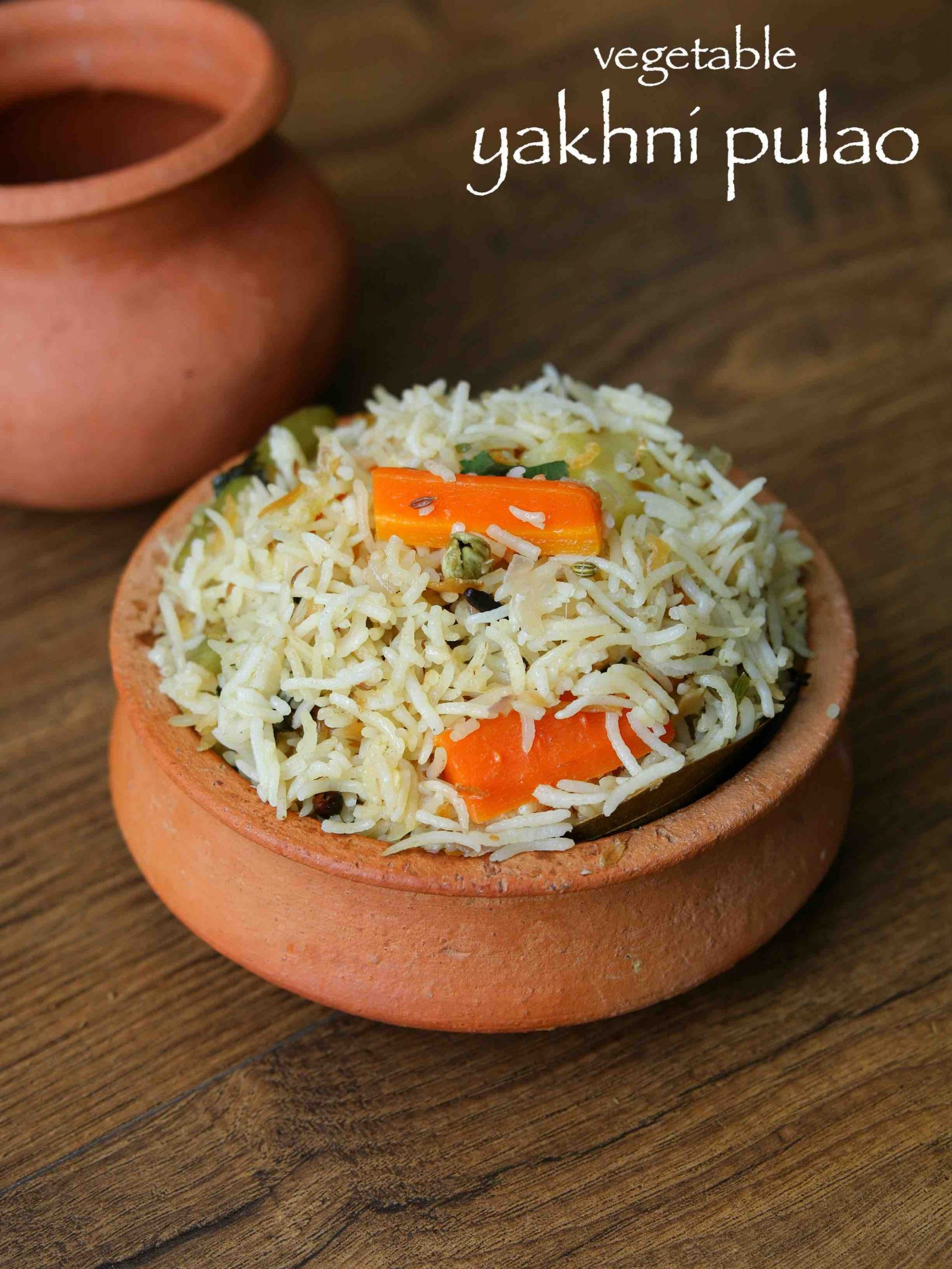 yakhni pulao recipe | vegetable yakhni pilaf | veg yakhni pulao