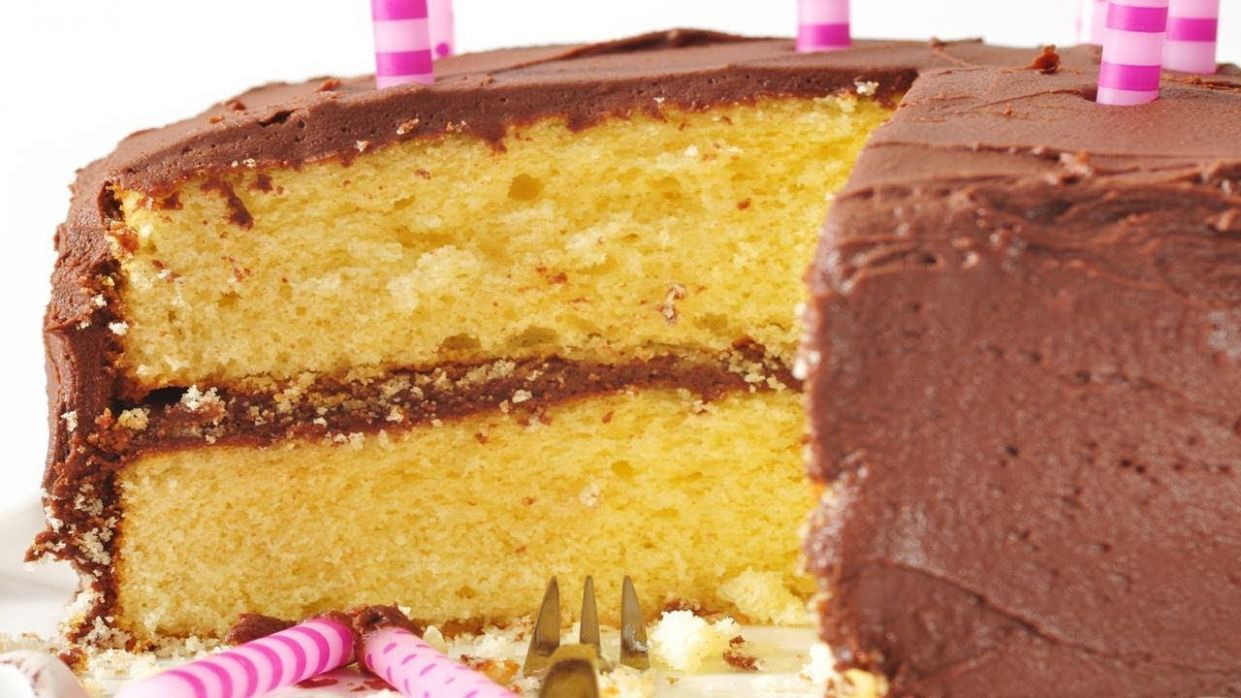 Yellow Butter Cake Recipe & Video - Recipes Yellow Cake Mix