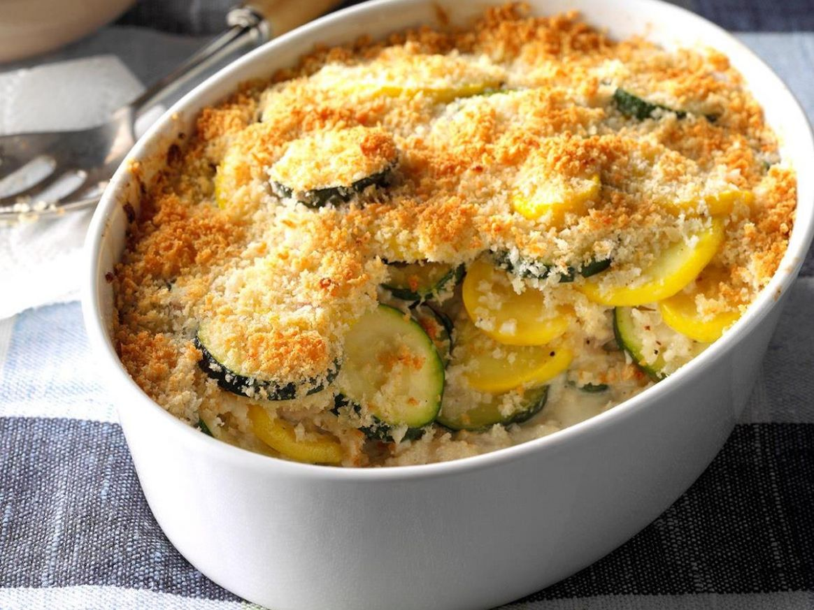 Yellow Squash and Zucchini Gratin - Recipes For Summer Squash And Zucchini