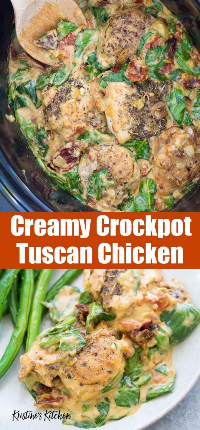 You'll love this easy recipe for Tuscan Slow Cooker Chicken Thighs ...
