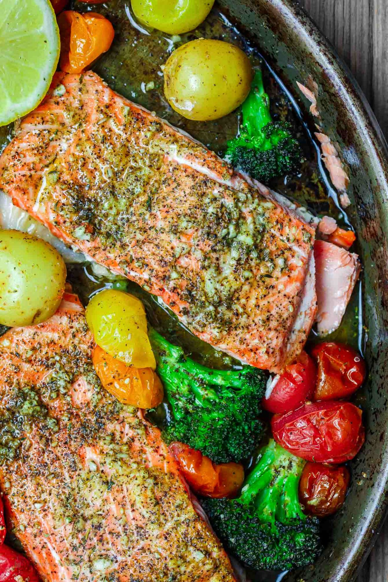 Za'atar Garlic Salmon Recipe | The Mediterranean Dish