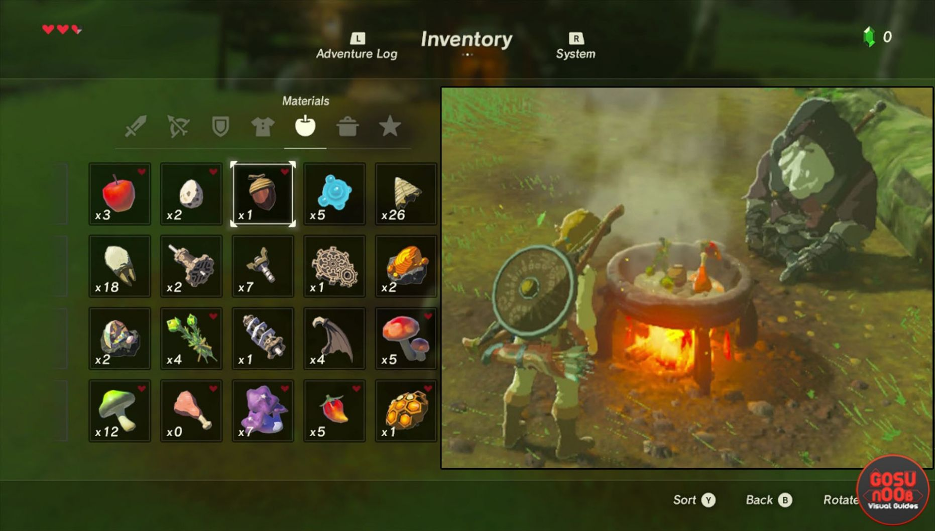 Zelda Breath of The Wild Cooking Recipes - How to Cook