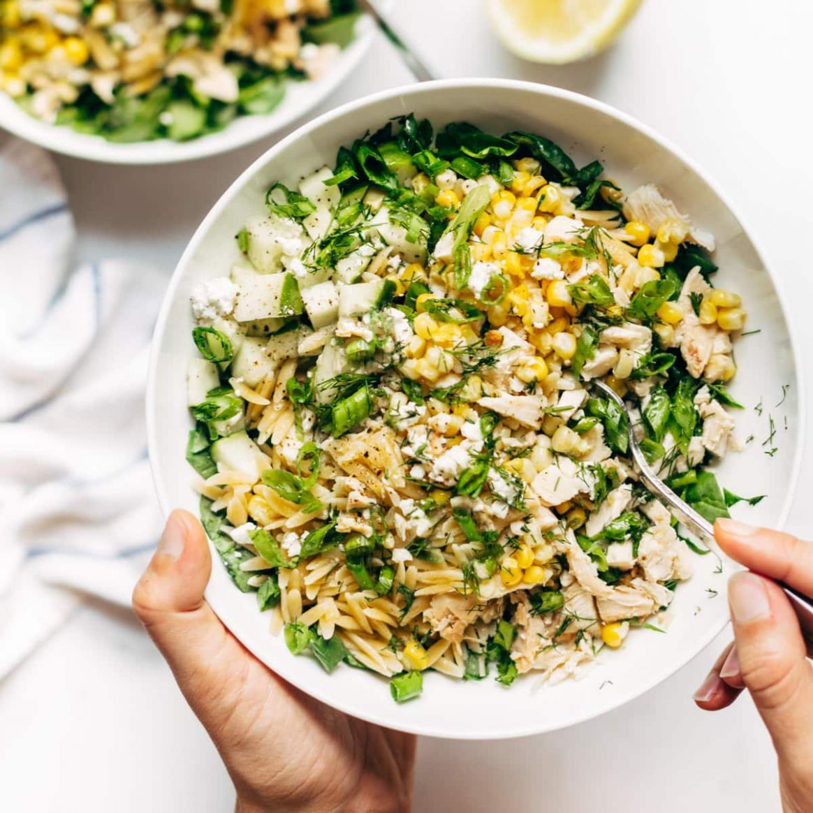 Zippy Orzo Summer Salad - Recipes Orzo Salad