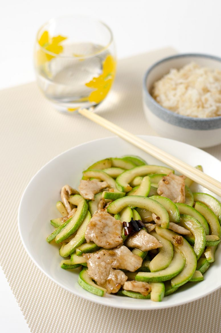 Zucchini and Pork Stir-Fry