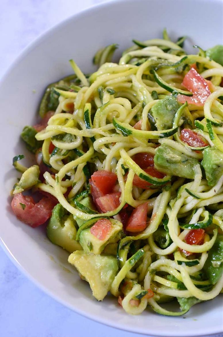 Zucchini Noodles Salad Recipe - Salad Recipes With Zucchini Noodles