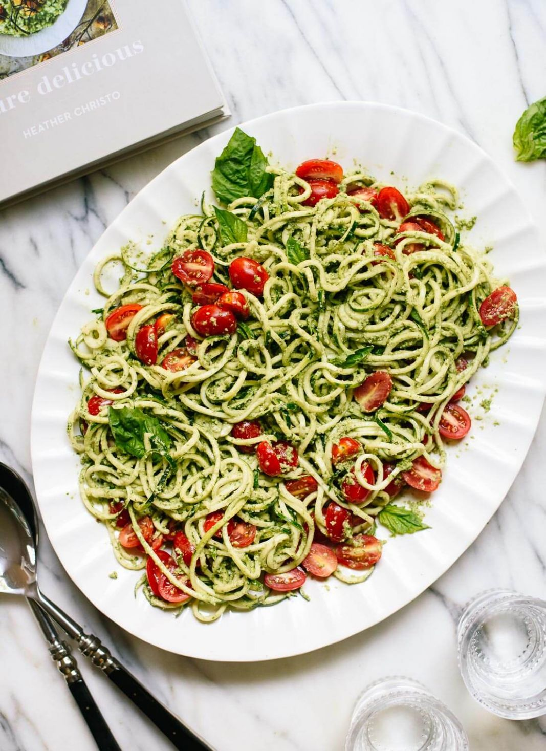 Zucchini Noodles with Basil Pesto - Cookie and Kate