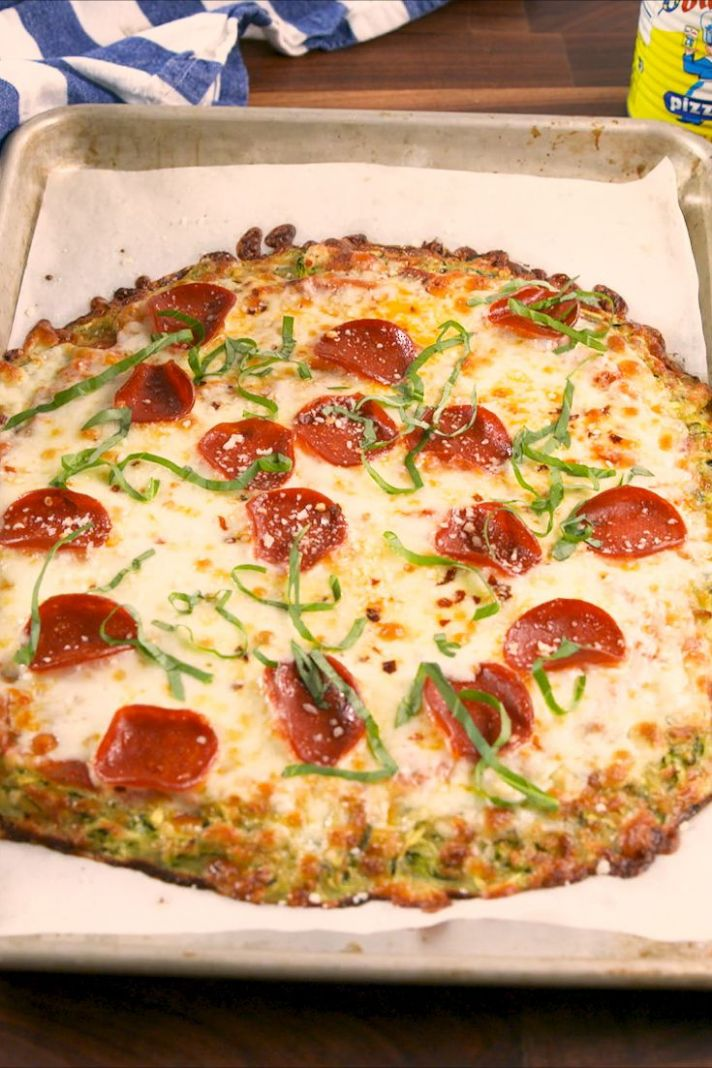 Zucchini Pizza Crust - Pizza Recipes Delish